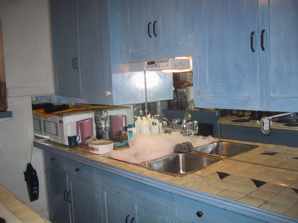 Old kitchen before renovation.
